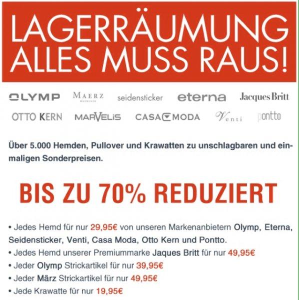 Lagerräumung & SuperSale bei hemden.de