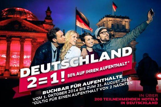 Hotels: 40-50% auf Hotels weltweit bei Accor, z.B. Hamburg City 35,-€ / Nacht (Oktober - August)