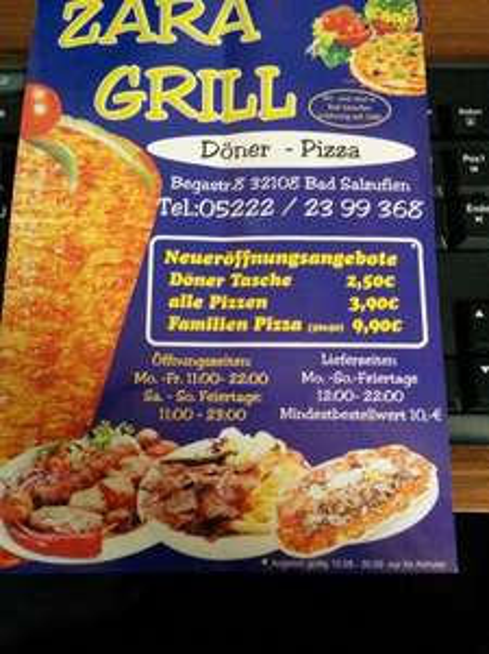 [Lokal Bad Salzuflen] Neueröffnung Zara Grill Döner 2,50€, Pizza 3,90€, Family Pizza 9,90€