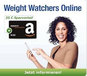 [nur für GMX Premium Kunden] Weight Watchers für 45,80€ 3 Monate lang testen und 60€ Amazon Gutschein erhalten