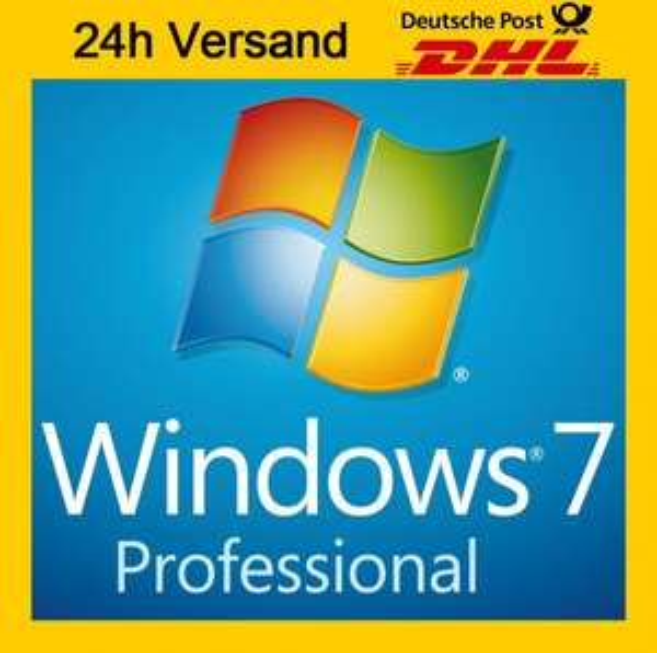 Microsoft Windows 7 Professional 64bit - aber nur Key