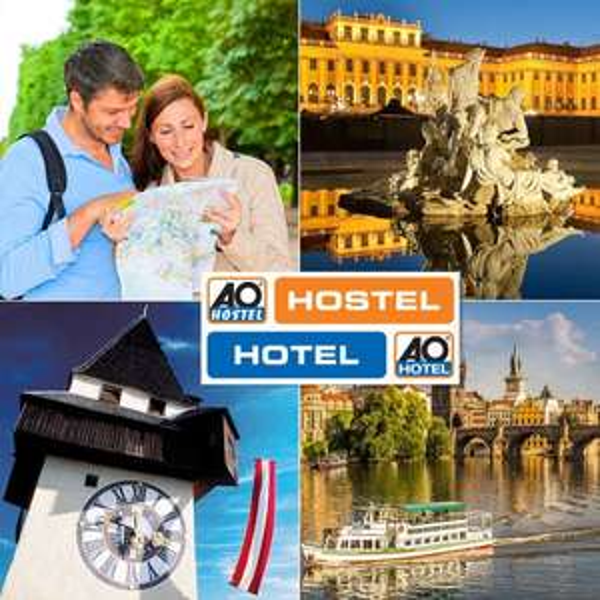 A&O To Go Blue Gutschein für Wien, Prag und/oder Graz (2 Personen, 2 Übernachtungen mit Frühstück) für 19€