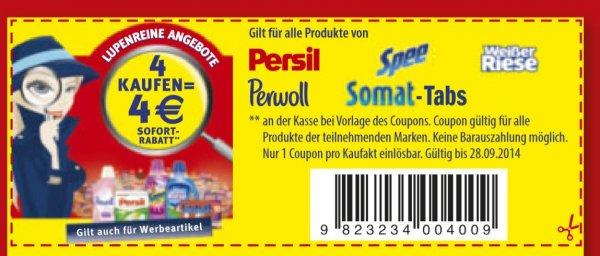 [ Müller ] Spee o. Weißer Riese Megaperls oder Flüssig für 1,49 € bei kauf von 4 Packungen !
