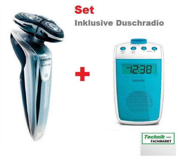 PHILIPS Rasierer SensoTouch 3D - RQ 1260 mit AE 3300 Duschradio im Set 154,99€