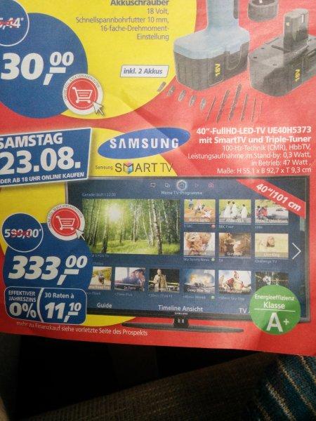 Samsung UE40H5373 fuer 333€ bei real (nur heute)