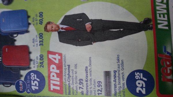 Real Filialen: Herrenanzug 29,95€