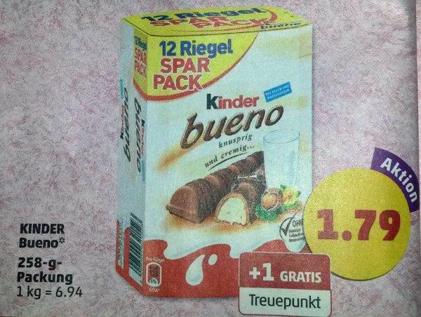 [PENNY] 12 Riegel Kinder Bueno für 1,79€