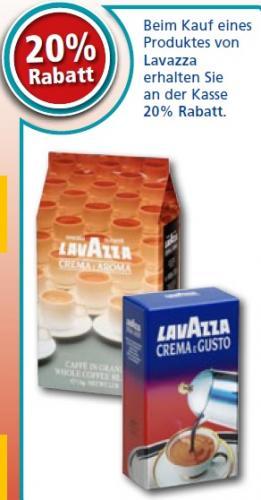 Lavazza Kaffee / Espresso 20% Rabatt auf alle Sorten offline @REWE