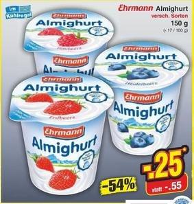 [Netto MD] Ehrmann Almighurt 150g Becher für 0,25€ (mit Reebate 0,15€)