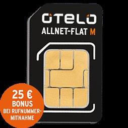 otelo Flat M - Allnet Flat, 500MB für effektiv 8,53€ im D2-Netz @24mobile