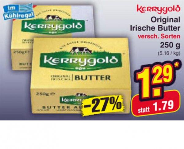 Zartschmelzende Kerrygold Butter für 1,29 Euro bei Netto o.Hund