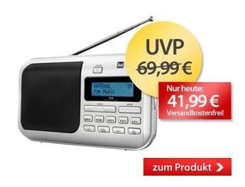 DUAL DAB 4 Portables DAB(+) / UKW Radio für 41,99 € inkl. Versand