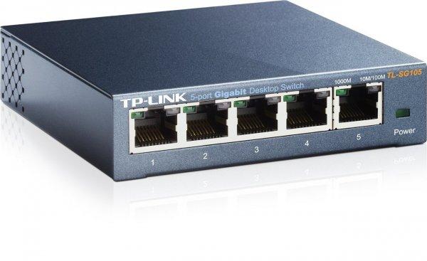 TP-Link TL-SG105 5-port Metal Gigabit Switch @ Amazon.de