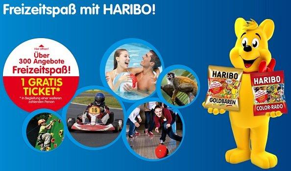 2-zu-1 für über 300 Freizeitangebote auf jeder Haribo Aktionspackung z.B. Tropical Island