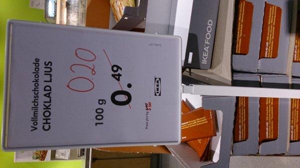 100g Tafel Schokolade bei IKEA Hannover Expopark
