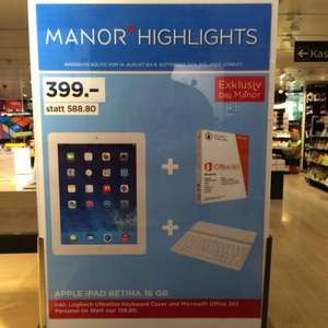 (Lokal Manor) iPad 4 + Logitech Tastatur + Microsoft Office 365