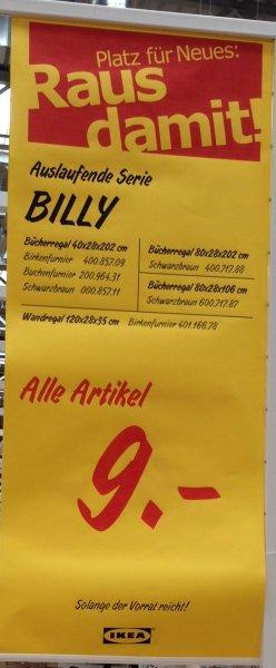 [IKEA München-Brunnthal] Ausverkauf: Diverse Billy Regale für 9€