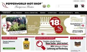 18% auf alle Produkte bei Pepperworld z. B.  4X Bumble foots hot sauce