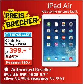 [Schweiz / lokal] Apple iPad Air 16GB Wifi für 330 EUR (InterDiscount)