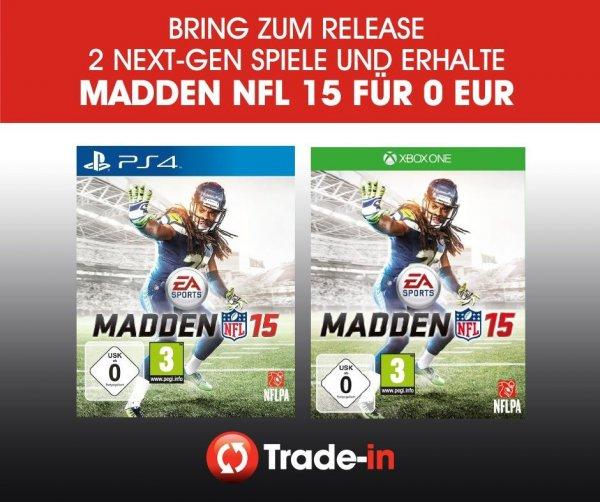 Madden NFL 15 (PS4/Xbox One) für ca. 30€ mit kleinem Aufwand @ gamestop