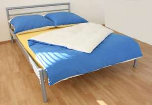 """Stabiles Metall-Doppelbett 140 x 200cm silber - Ideal für Studenten oder Leute mit """"temporärer"""" Wohnung für 34,99 € @ebay inkl. Versand"""