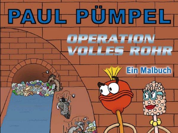2 Gratis Kinder Malbücher Paul Pümpel und ein Würfelspiel Kanaylrallye bei Stadtentwässerung Hannover