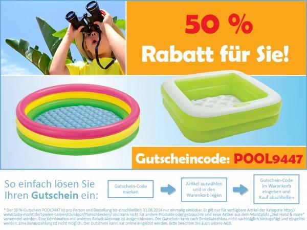 Pools ab 0,50€ (+ bis 20 Euro 4,95€ Versand) Baby-markt.de