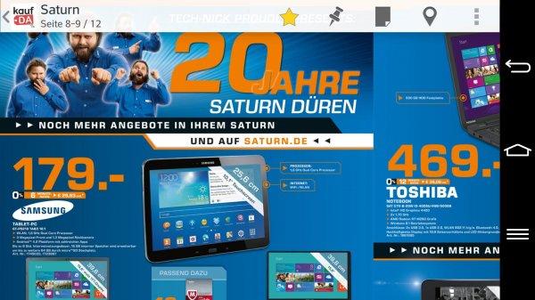 lokal Düren Saturn Samsung Galaxy Tab 3 10.1 179€