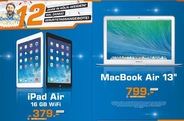 "Apple iPad Air 16GB WiFi,Apple MacBook Air 13"" (MD760D/B) für 799€ Lokal @ Saturn Köln Weiden"