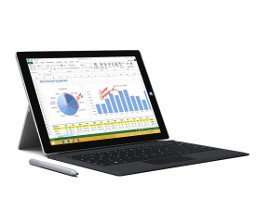Surface Pro 3 I5 128 GB ink. schwarzem Typecover