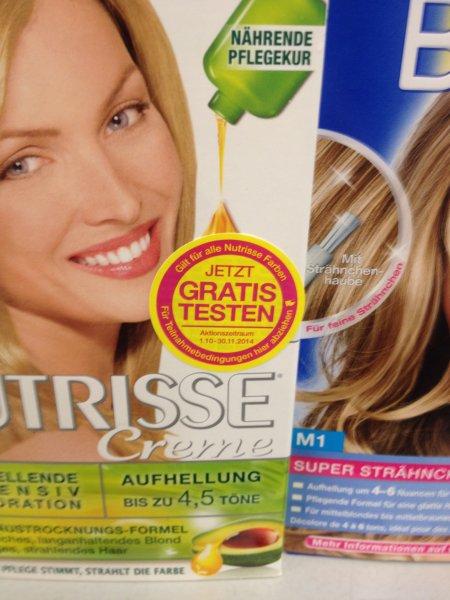 Garnier Nutrisse Haarfarbe gratis testen [01.10.-30.11.2014]