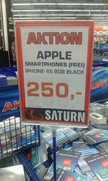 [Lokal] Apple Iphone 4S 8GB - 250€ [Saturn Stuttgart]