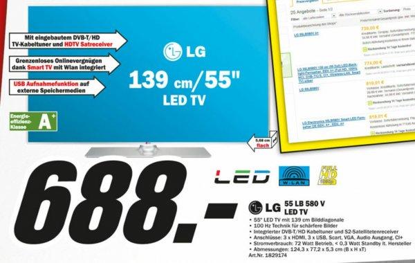 """(MM Kassel) LG 55LB580v 55"""" FullHd TV idealo ab 774"""
