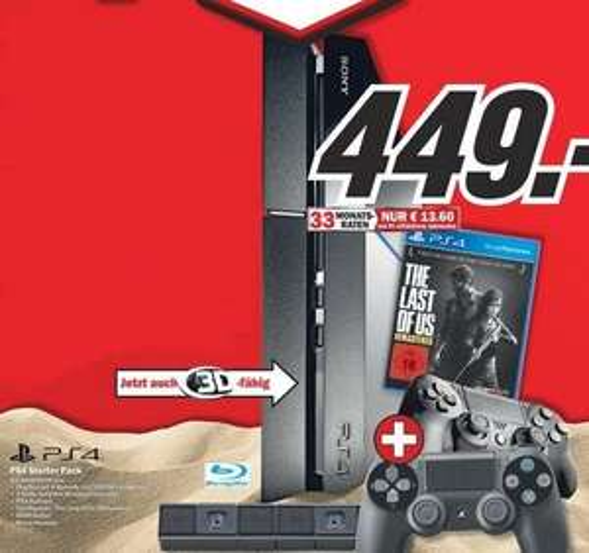 [Media Markt] PS4 Konsole + Last of Us + Kamera + 2 Controller (449€ ohne VSK)