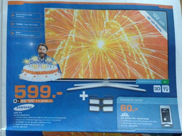 Samsung UE 48 H 6600 für 599 EUR Saturn Dortmund City