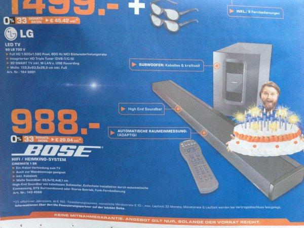 Bose Cinemate 1 SR für 988 EUR Saturn Dortmund City
