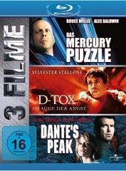 Das Mercury Puzzle & D-Tox & Dante's Peak – 3 Filme Box (Blu-ray) für 7,99 EUR ggf. VSK