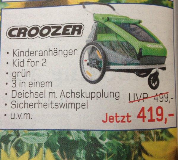 [Lokal] Croozer Kinderanhänger Kid for 2 für 419,- €. Zweiradzentrum Dülmen und Olfen, 60,- € unter idealo