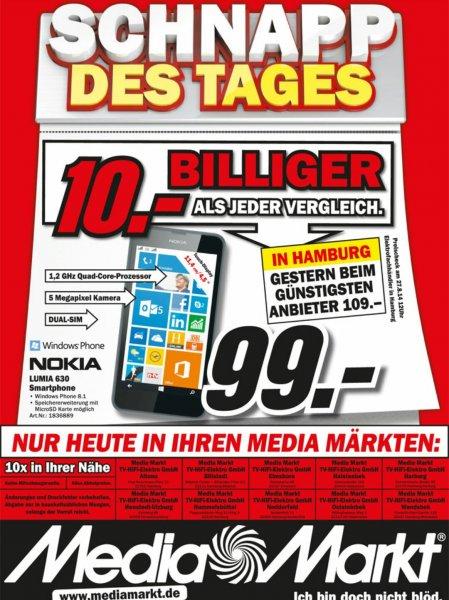 [Lokal - Hamburg][MM] Nokia Lumia 630 DUAL SIM für 99,00