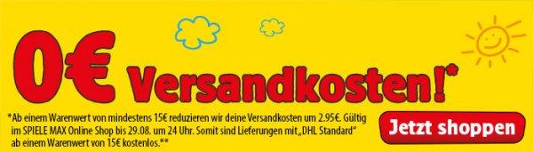 Aktion: Versandkosten 2,95€ geschenkt ab 15€ MBW (Lego, Playmobil etc.) [Spiele-Max]
