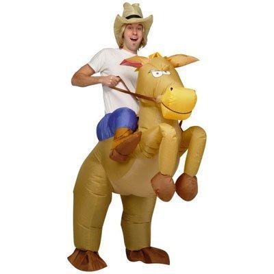 Cowboy mit Pferd - Kostüm - Aufblasbar ! 24,99,-€ (von 44,99,-€) bei Amazon