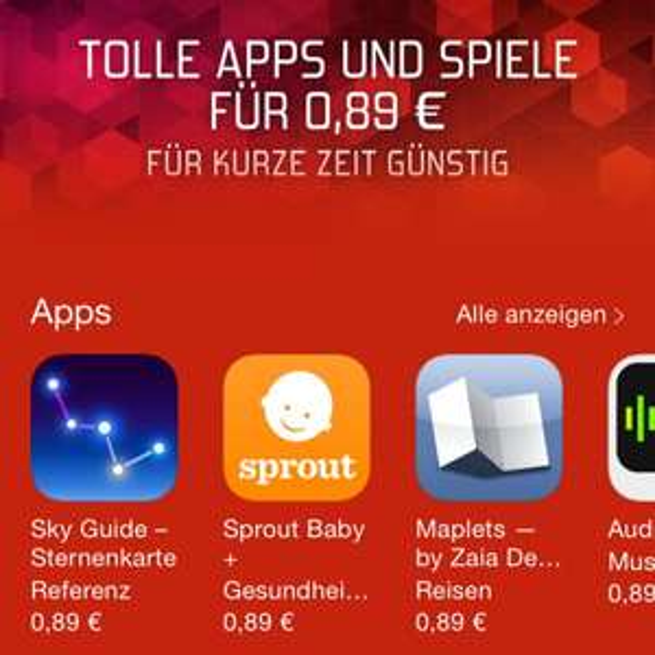 Viele Apps im App Store momentan günstiger ! 0,89€