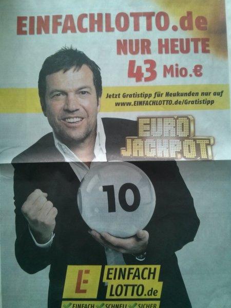 Gratis-Tipp Lotto (EuroJackpot) für Neukunden