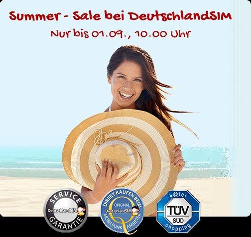 Deutschlandsim Sommer Aktion 14,95€ 1GB+sms und allnet flat