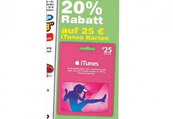 25€ iTunes Karte für 20€ @ Netto ohne Hund
