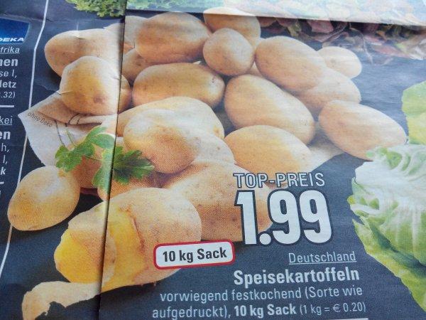 Edeka Rhein-Ruhr Kartoffeln 10kg Sack 1,99  €