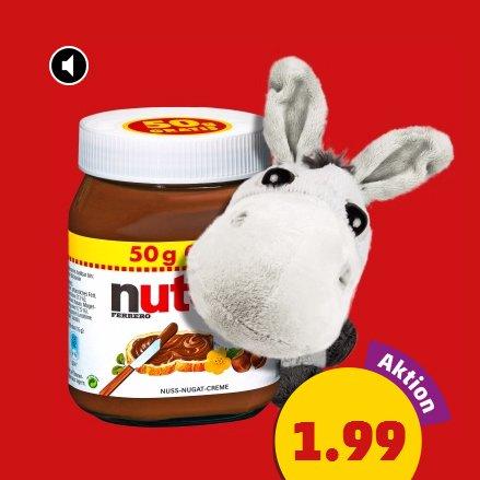 Bei Penny Bundesweit Nutella für Nur-am-Wochenende-Esser (500 gramm nür 1,99 €)