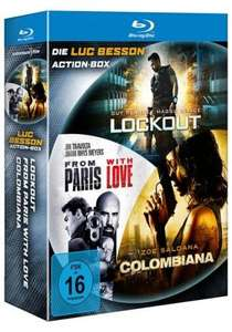 Blu-ray: Luc Besson Action-Box: Lockout & Colombiana & From Paris with Love + Box: Die Purpurnen Flüsse 1 & 2 + Filler: A.C.A.B. = € 23,86 inkl. Versand @ media-dealer.de