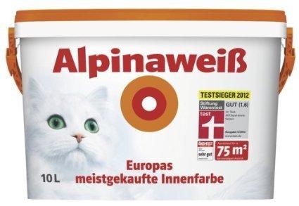 Alpinaweiß Wandfarbe matt 10 l für 34,99 bei TOOM