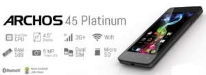 "[Dealclub.de] Archos 45 Platinum 4GB, Dual-Sim, Quad-Core, 1GB Ram, 4,5"", Idealo.de ab 93,41€"